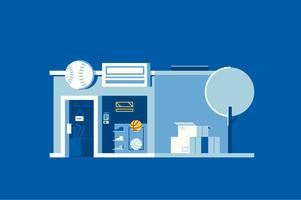 Minimalist sports store shop illustration