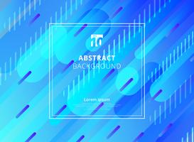 Abstract blue background geometric dynamic rounded shapes diagonal with white frame space for text. vector