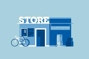 Minimalist store shop illustration