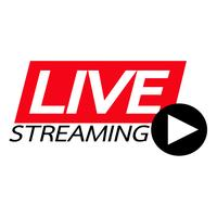 Live Streaming online tecken vektor design