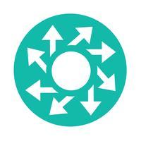 ícone de sinal de seta simples
