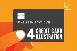 Credit card shopping benefit illustration