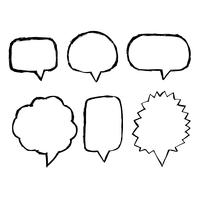 Speech Bubble hand drawn icon