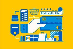 Ilustración de elemento de patrón de venta por menor de compras