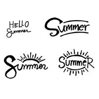Summer Brush lettering background