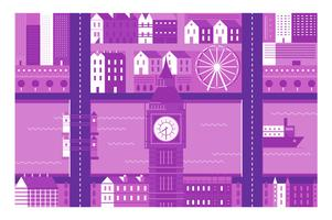City landmark London illustration background