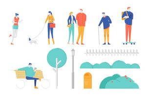 People character illustration set  vector