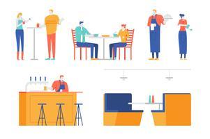 Conjunto de ilustración de personajes de personas
