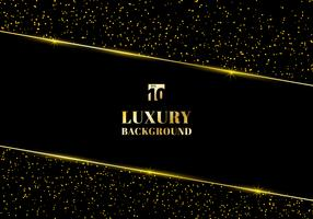 Abstract golden glitter and shiny gold frame on black background. Luxury elegant trendy style. You can use for wedding Invitation cards, packaging, banner, card, flyer, invitation, party, print advertising. etc.
