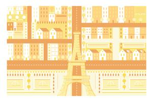 City Paris landmark Eiffel tower illustration background