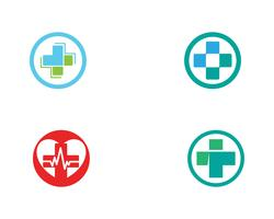 Hospital logo and symbols template icons vector