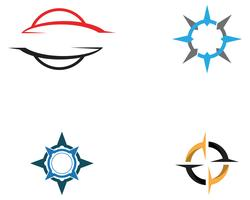 Compass Logo Template vector design illustration icône