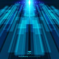 Abstract blue virtual technology concept futuristic digital background vector