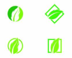 Loghi di verde foglia di albero ecologia
