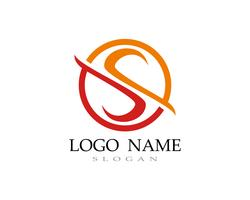 S logo vector line template font