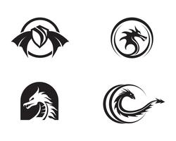 Dragon vectorillustratie pictogram vector