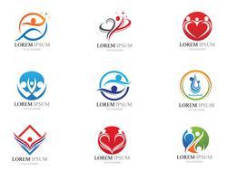Signo de logotipo de carácter humano