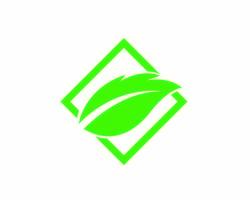 Logos der grünen Baumblattökologie