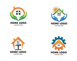 Home repair logo vector template and symbol