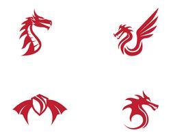Dragon vectorillustratie pictogram