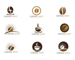 Modèle de logo de tasse de café