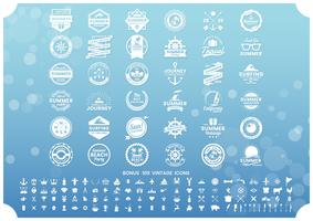 Summer Retro Vector per banner