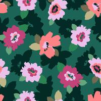 Abstraktes nahtloses mit Blumenmuster. Vektordesign für verschiedene surfases.