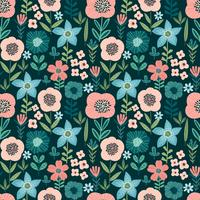 Naadloze bloemmotief. Vectorontwerp voor papier, dekking, stof, interieur