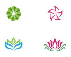 conception d'icône fleur vecteur