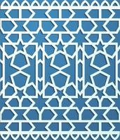 Blue seamless pattern in arabic style background
