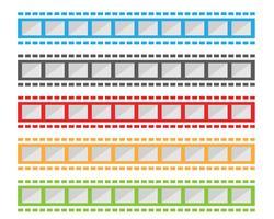 filmstrip vector sjabloon illustratie ontwerpen