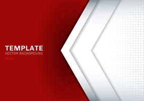 Template white arrow overlapping with shadow on red background space for text and message artwork design technology concept.