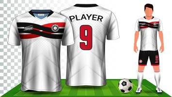 Soccer Jersey and Football Kit Presentation Mockup Template.