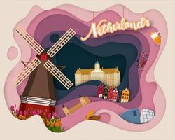 Paper cut design av Tourist Travel Netherland