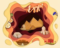 Paper cut design of Tourist Travel Egypt