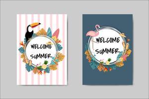 Biglietto d'auguri bella carta di estate