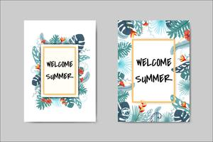 Beautiful Summer Card lettering card vector