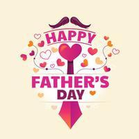 Diseño de tipografía del día del padre para la tarjeta de saludos