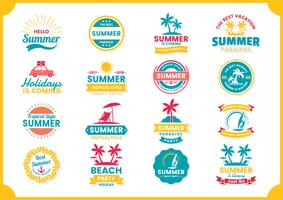 Summer Retro Vector for banner