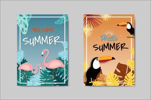 Mooie zomer kaart belettering kaart