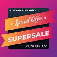 Super Sale Special Offer Banner Design Template