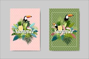 Hermosa tarjeta de verano tarjeta de letras