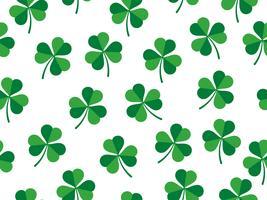 Padrão sem emenda de trevo deixa no fundo branco - dia de St Patrick