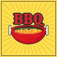 poster retro barbecue