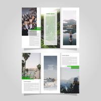 Modèle de vecteur de brochure aventure plate