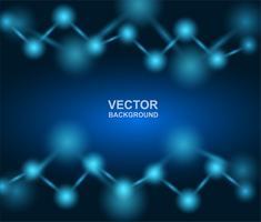 Projeto de Abstract.molecules. Átomos Fundo de medicina ou ciência. Estrutura molecular com partículas esféricas azuis. Ilustração vetorial