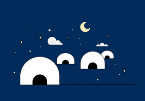 Gratis Igloo Vector
