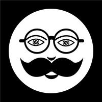 mustache guy face icon