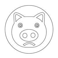 Süße Schwein-Symbol