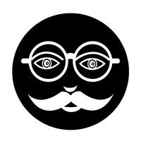 mustache guy face icon vector
